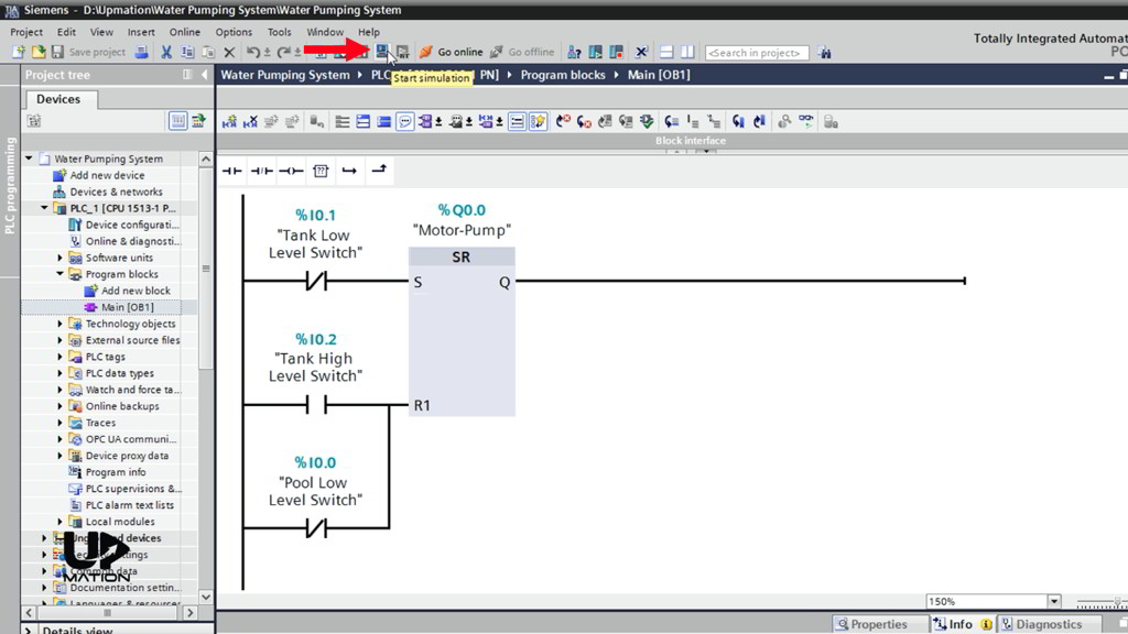 How to Download the Program to PLC