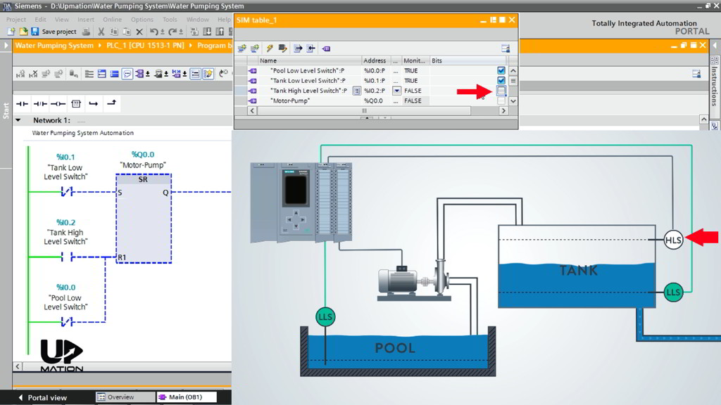 How to Force the Input Values in PLC Simulation