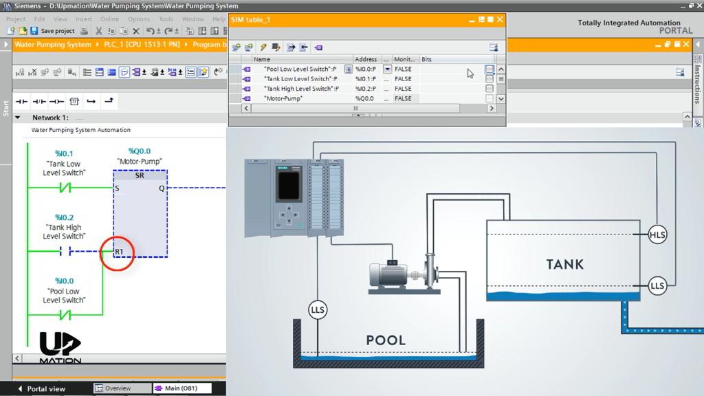 Ladder Logic PLC Program Flip Flop