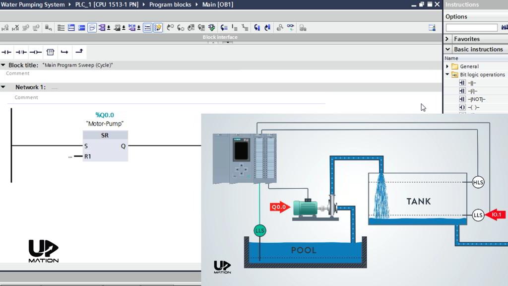 Motor Start Ladder Logic PLC Program